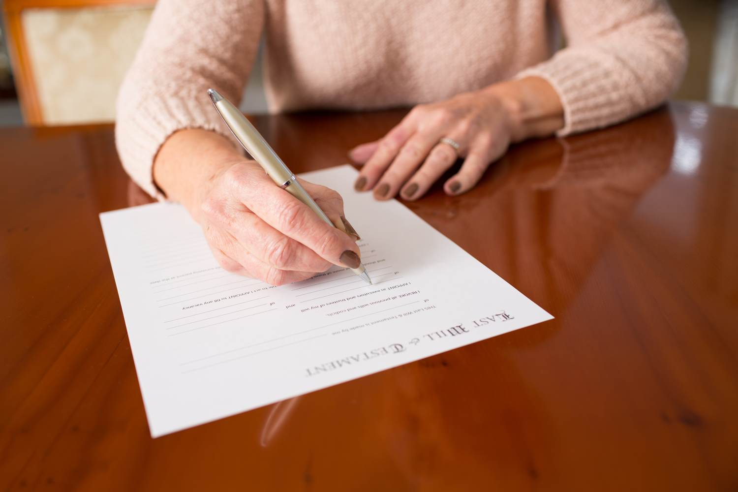 Signing a last will