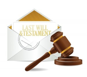 18593302 - last will and testament document papers and gavel illustration design over a white background